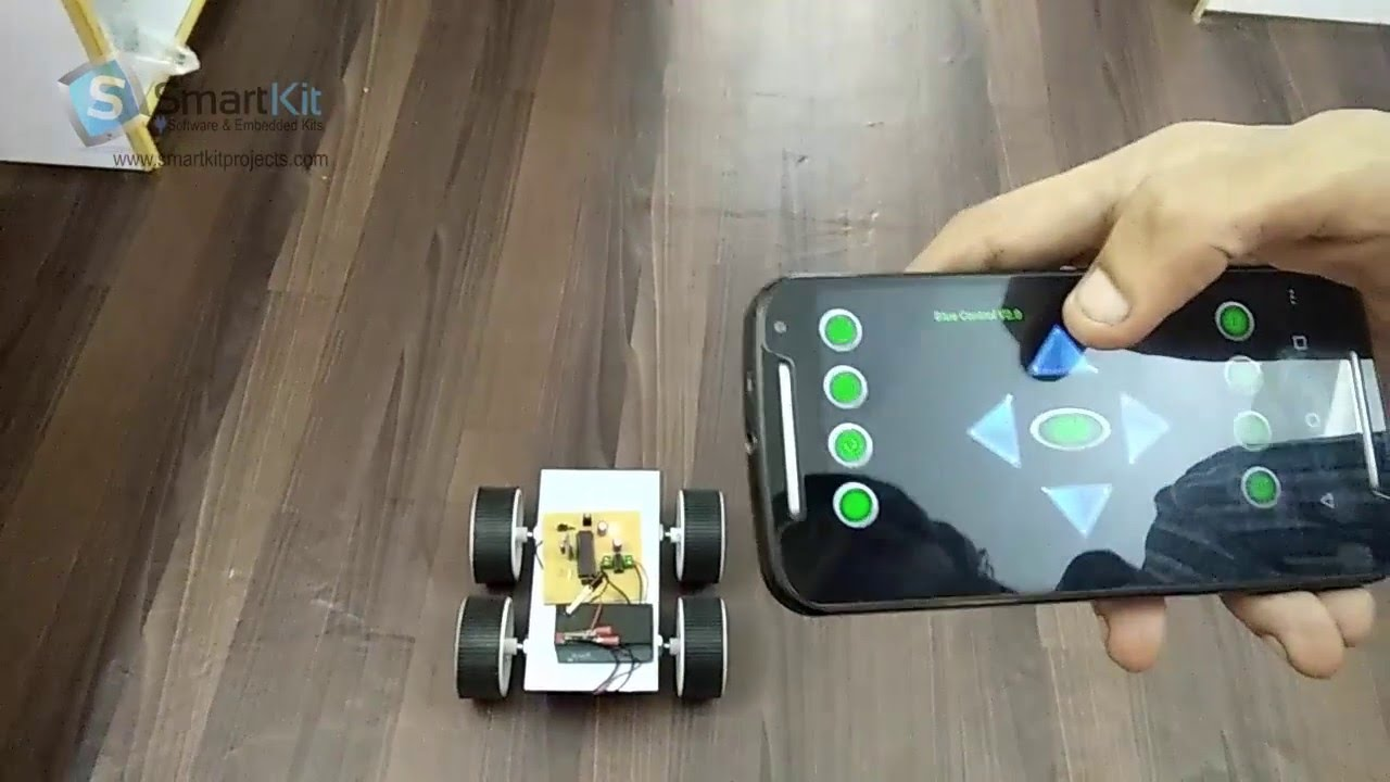 Robotic Vehicle Controlled By Android App Using 8051 Based