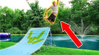 WE BUILT A MEGA RAMP!!