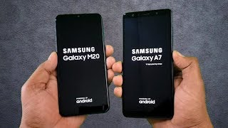 Samsung M20 vs Samsung A7 (2018) SpeedTest Comparison