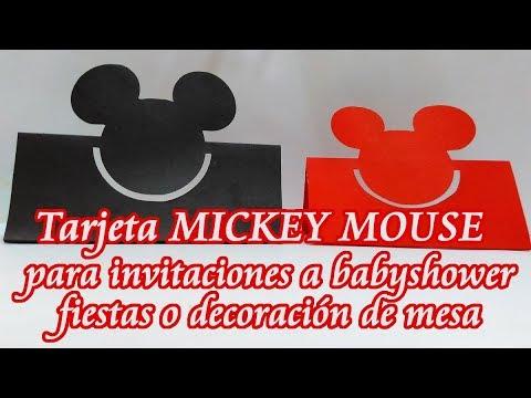 Tarjeta De Invitación Mickey Mouse Tarjeta Decoración