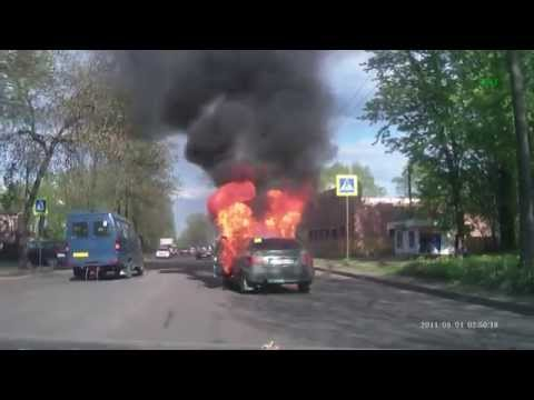 Car Burns So Fast You'd Think It Was Soaked In Gas