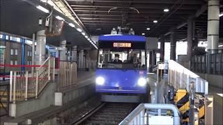 下高井戸駅 東急世田谷線発車と行き交う京王電鉄 2019.1.27