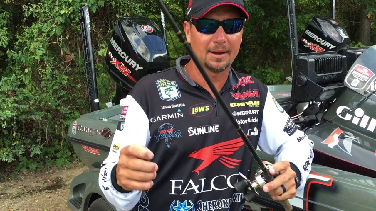 Jason christie fished a booyah pad crasher at the potom for Jason christie fishing
