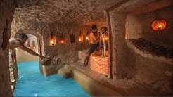 How To Build Secret Underground House With Temple Underground Swimming Pools