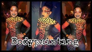 Bodypainting avec Ndjye wells @welovetoubana