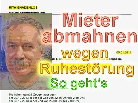 Mieter Abmahnen Wegen Ruhestörung So Gehts Musterschreiben 2018