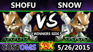 S@X Customs - Snow (Fox) Vs. Shofu (Fox) SSB4 Tournament - Smash Wii U - Smash 4