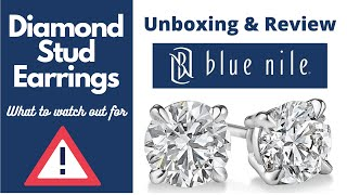 Buying Diamonds Online: Review and unboxing of Blue Nile Stud Diamond Earrings