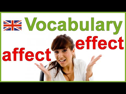 Affect Vs Effect - Confusing English Words | Vocabulary
