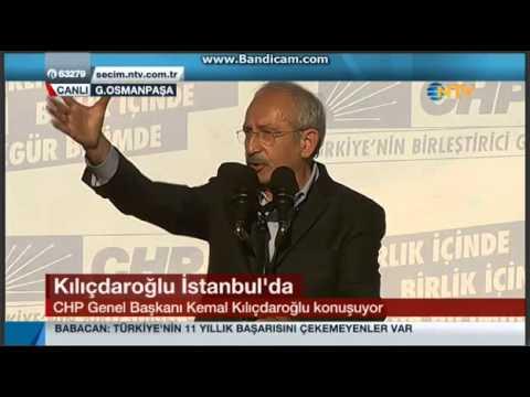 CHP GENEL BAŞKANI KEMAL KILIÇDAROĞLU İSTANBUL G.OSMANPAŞA MİTİNGİ 15.03.2014
