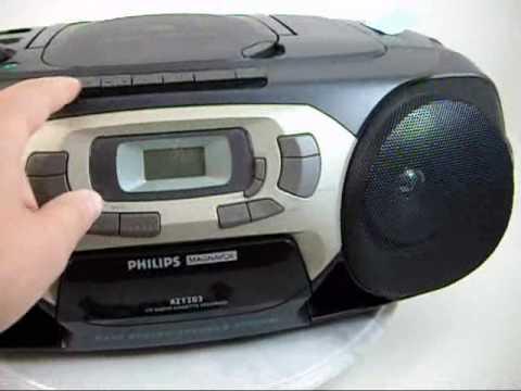 philips magnavox cd radio cassette recorder player az1203 - YouTube