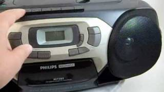 philips magnavox cd radio cassette recorder player az1203