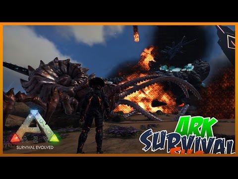 Kraken VS Elemental Titanosaur | ARK Survival Evolved Modded