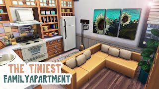 Tiniest 4 Sim Family Apartment || The Sims 4 Apartment Renovation: Speed Build