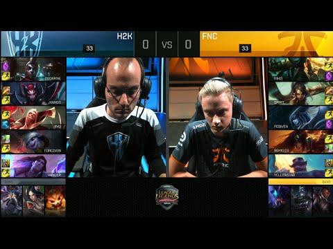 Fnatic vs H2K Gaming | Game 1 Quarter Finals S6 EU LCS Summer 2016 PlayOffs | FNC vs H2k G1 QF 1080p