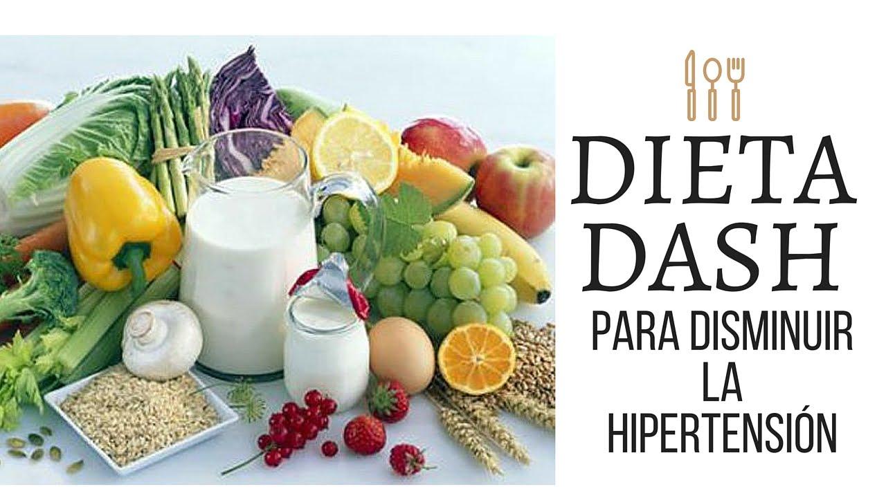 Versión actualizada de la dieta dash para hipertensión