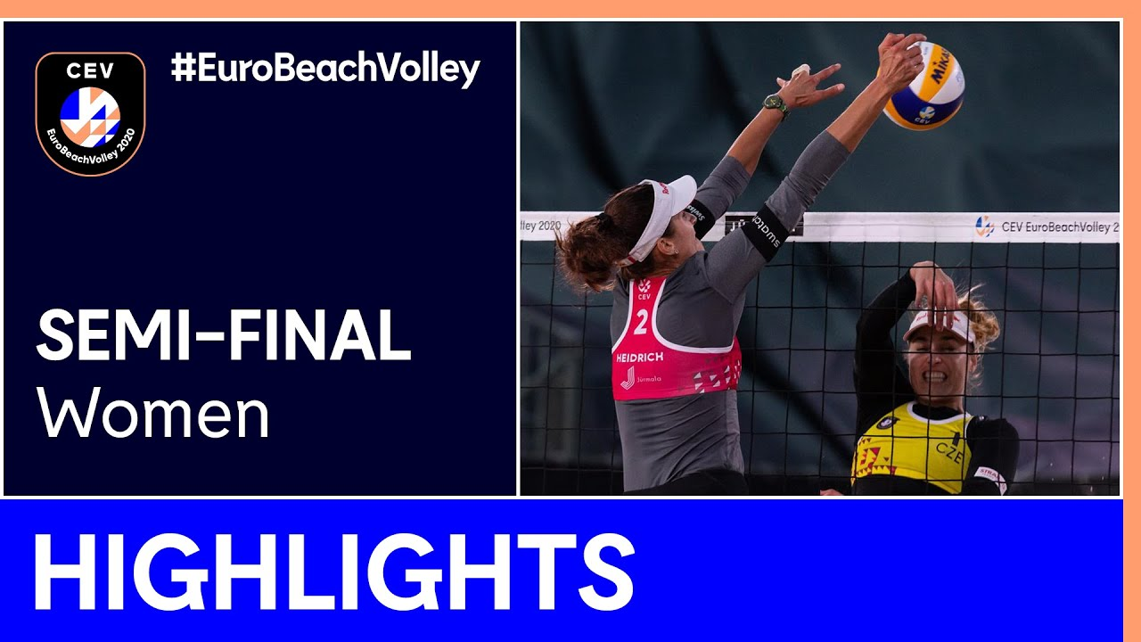 Hermannova/Slukova vs Heidrich/Vergé-Dépré, A. Semi-Finals Highlights - EuroBeachVolley 2020 Women