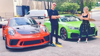 Breaking in my New Car on the Smokies! - TTRS vs. Porsche GT3 RS