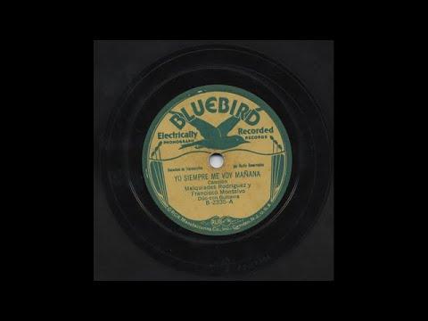 Melquiades Rodríguez Y Francisco Montalvo - Yo Siempre Me Voy Mañana - Bluebird B-2335-A