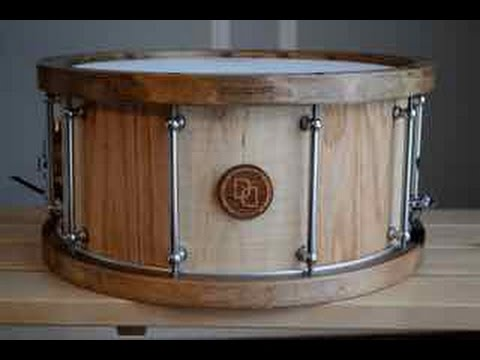 davies drums co 14 x 7 curly maple oak stave snare drum youtube. Black Bedroom Furniture Sets. Home Design Ideas