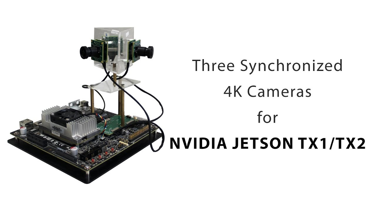 Three Synchronized 4K Cameras for NVIDIA® Jetson TX1/TX2