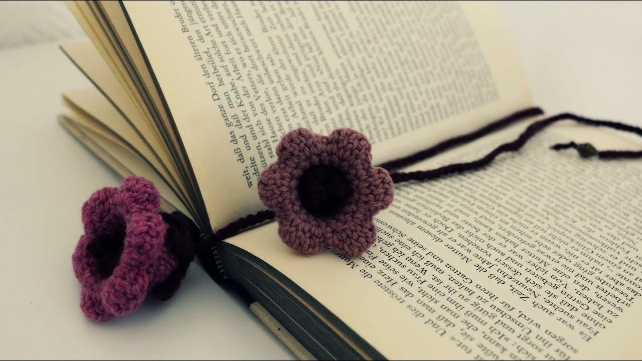 Lesezeichen Häkeln Diy Crochet Bookmark Eng Sub Youtube