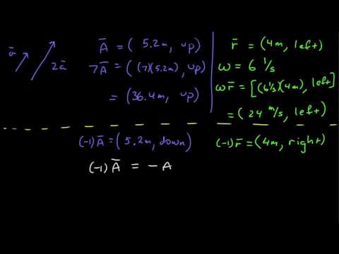Vectors: Multiplication by a Scalar and Subtraction in Descriptive Notation