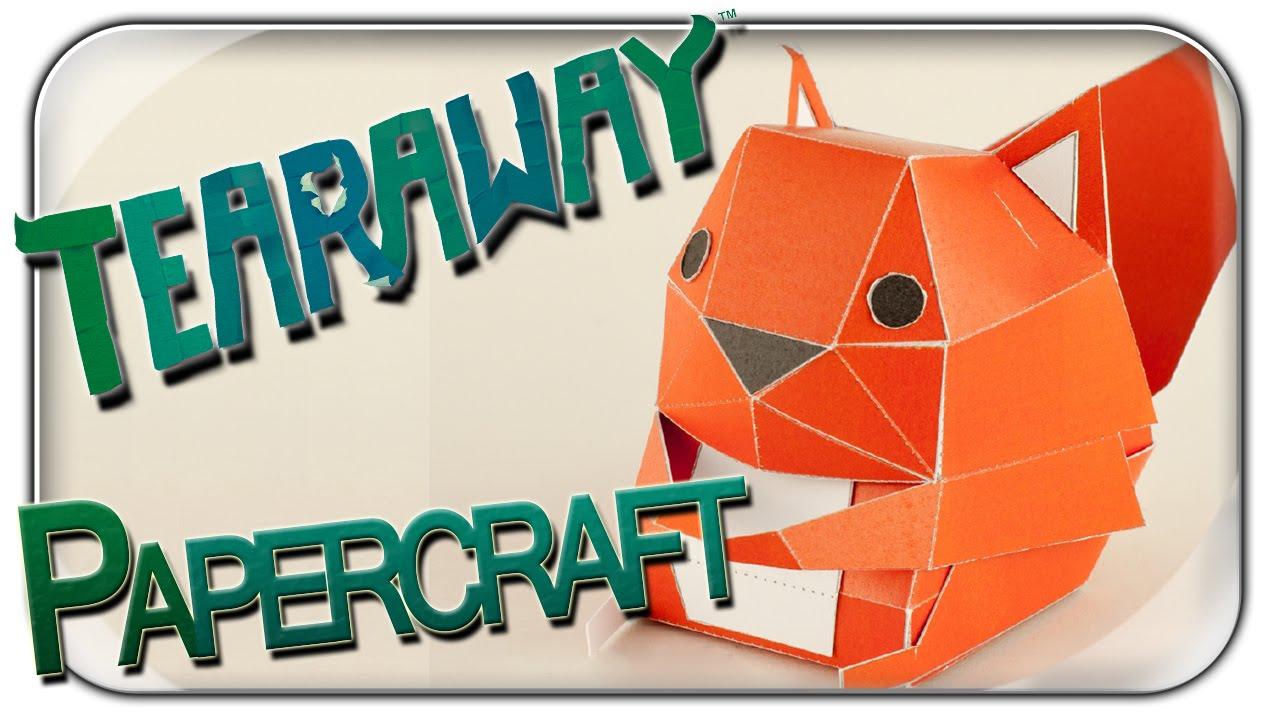 Papercraft LAST MINUTE WEIHNACHTS GESCHENK | PAPERCRAFT TEARAWAY EICHHÖRNCHEN SQUIRREL | 1080p Deutsch German