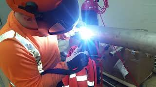 (2) Сварка тонкостенной нержавейки на производстве Середина проекта