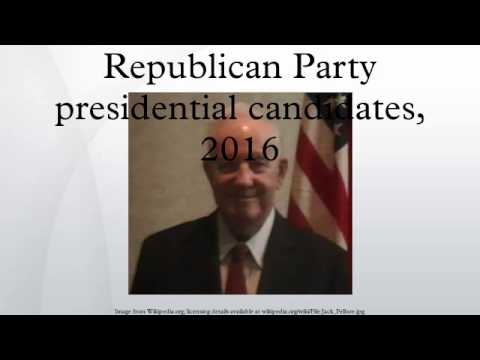 Republican Party presidential candidates, 2016