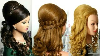 3 Bridal Hairstyles For Long Hair With Curls And Braids