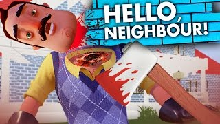 Minecraft Hello Neighbor ALPHA 3 - NEIGHBOR GETS HIS HEAD CUT OFF! New House? (Minecraft Roleplay)