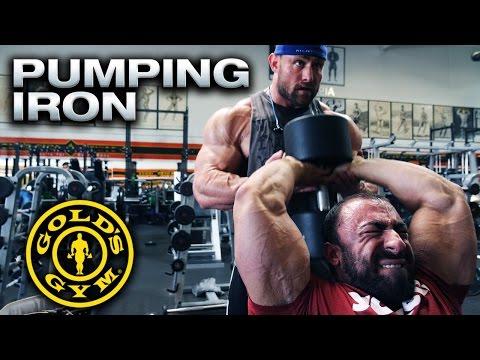 Arnold Schwarzenegger & Franco Columbu Golds Gym