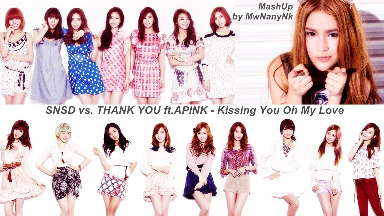 Wallpaper Pink Girl Cartoon Snsd Vs Thank You Ft Apink Kissing You Oh My Love