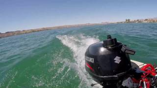 Suzuki 2.5 hp four stroke on a Hobie TI