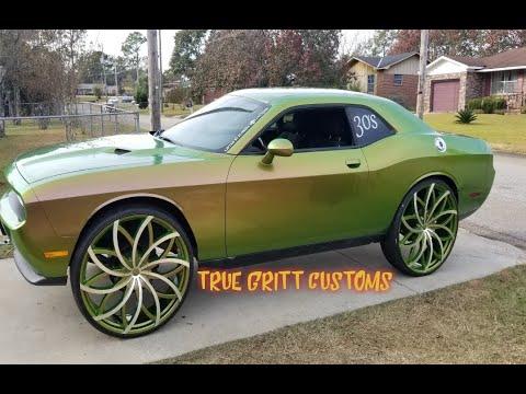 True Gritt Customs Outrageous Dodge Challenger On 30s