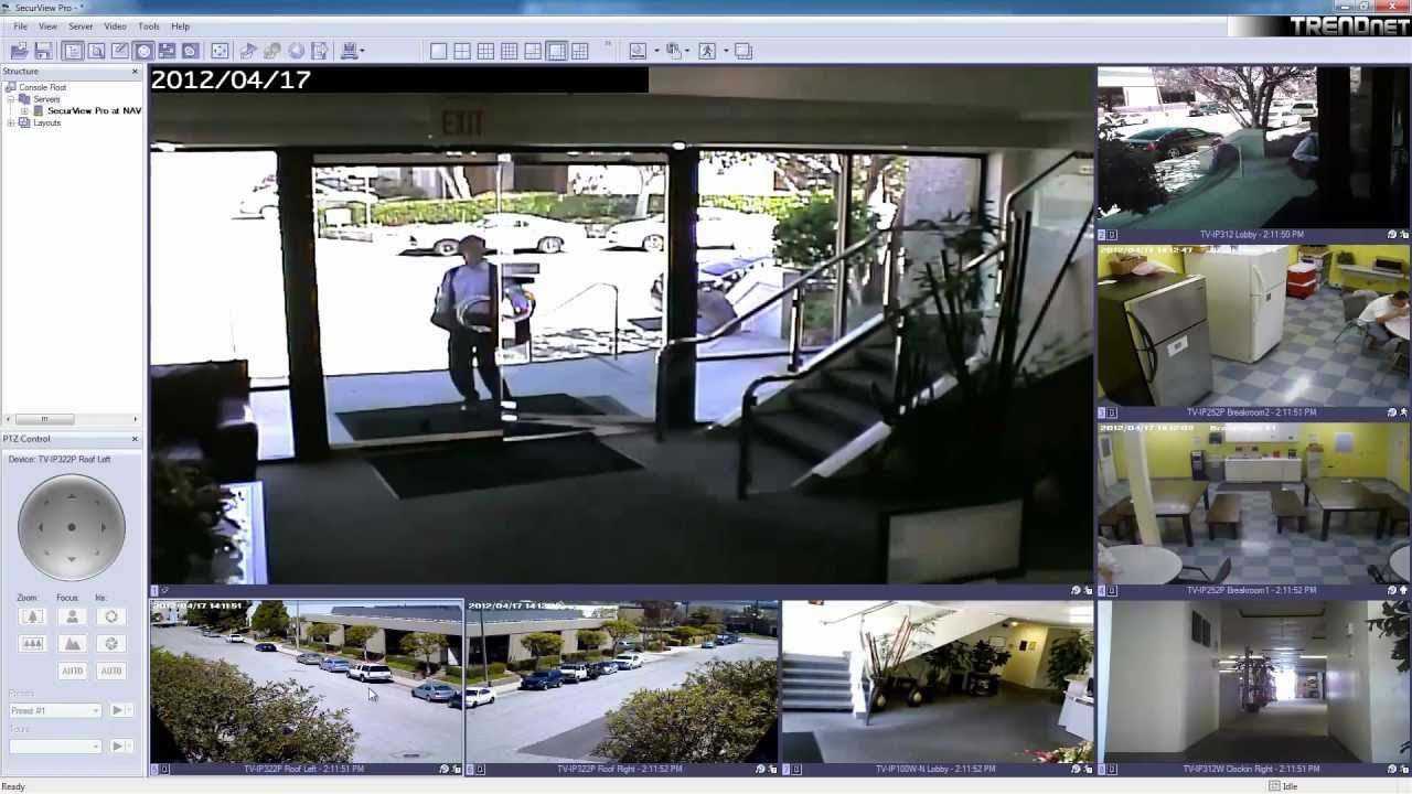 TRENDnet Wireless N Day/Night Internet Camera TV-IP551WI - YouTube