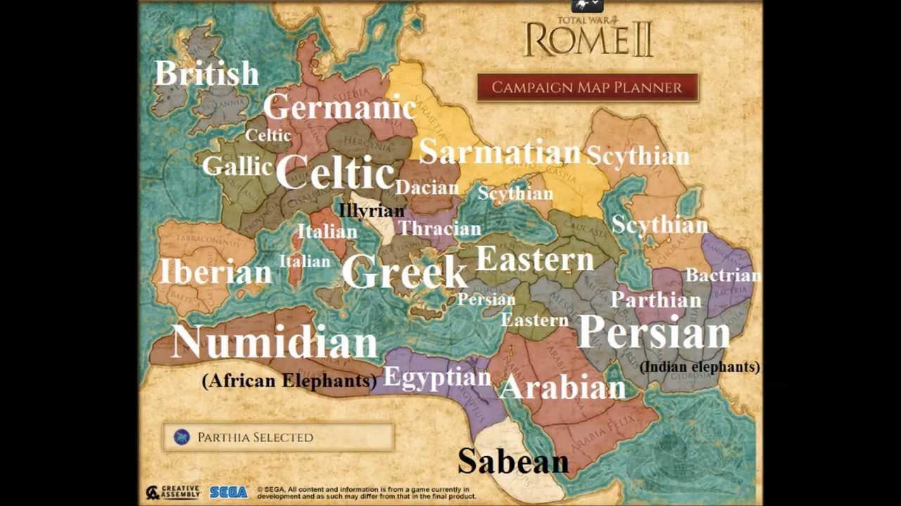 rome ii campaign map mercenaries youtube