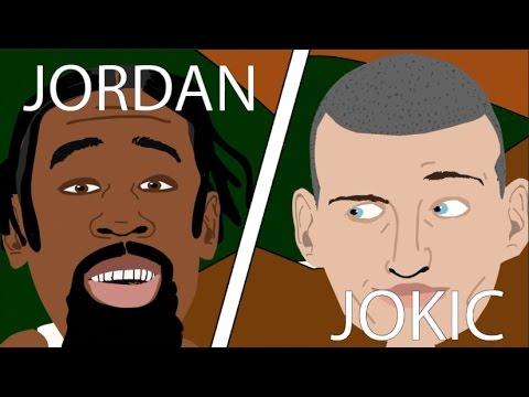 Nikola Jokić vs DeAndre Jordan 21 Jan - Match up highlights - DrSkip