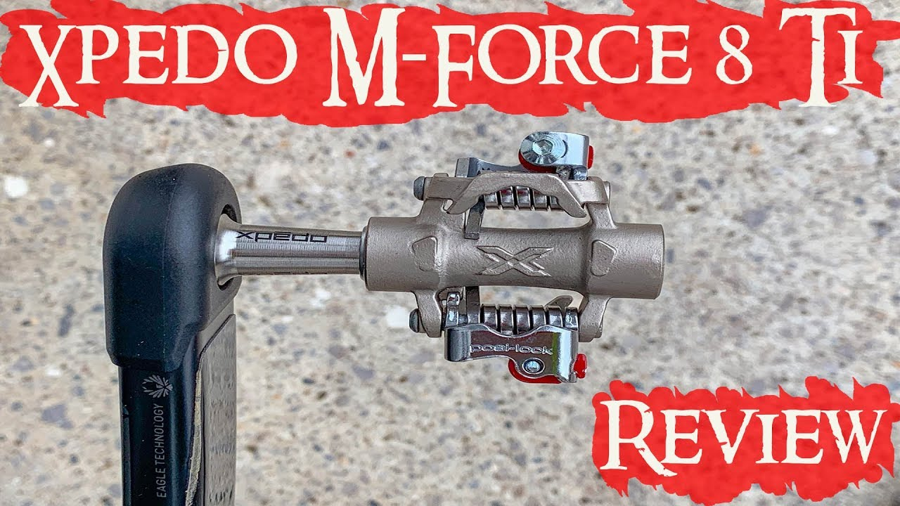 Xpedo M-Force 8 Ti MTB Clipless Pedals Silver