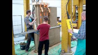 Test Of Load Bearing Capacity Of Prefabricated Wall Based On Rammed Earth Panels
