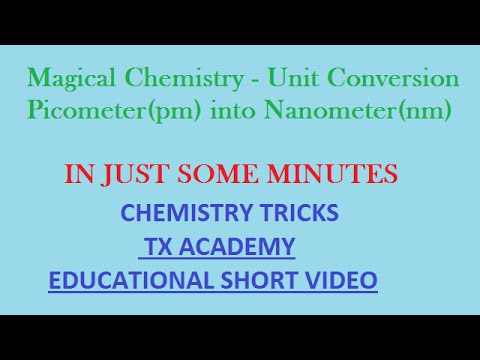 Magical Chemistry - Unit Conversion - Picometer(pm) into Nanometer(nm)