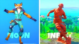 'NEW' Fortnite EMOTES LEAKED GAMEPLAY..! (Renard infectieux) Fortnite Bataille Royale
