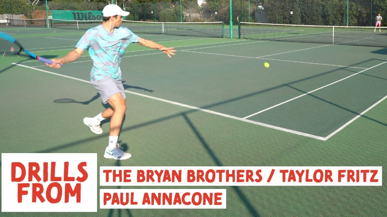 3 FAVOURITE DRILLS from The Bryan Brothers / Taylor Fritz & Paul Annacone | British Tennis