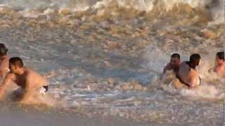 Swimmer caught in the undertow current at 2011 at Cabo San Lucas