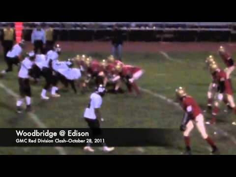 GMC Gridiron Highlights--October 28, 2011--Woodbridge @ Edison--Red Division Clash