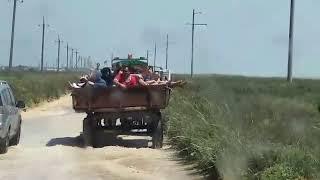 В Кирилловке отдыхающх вывозят на тракторе