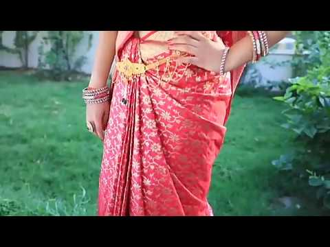 Properly Saree Draping | Learn How To Wear Indian Designer Saree Blouse Video