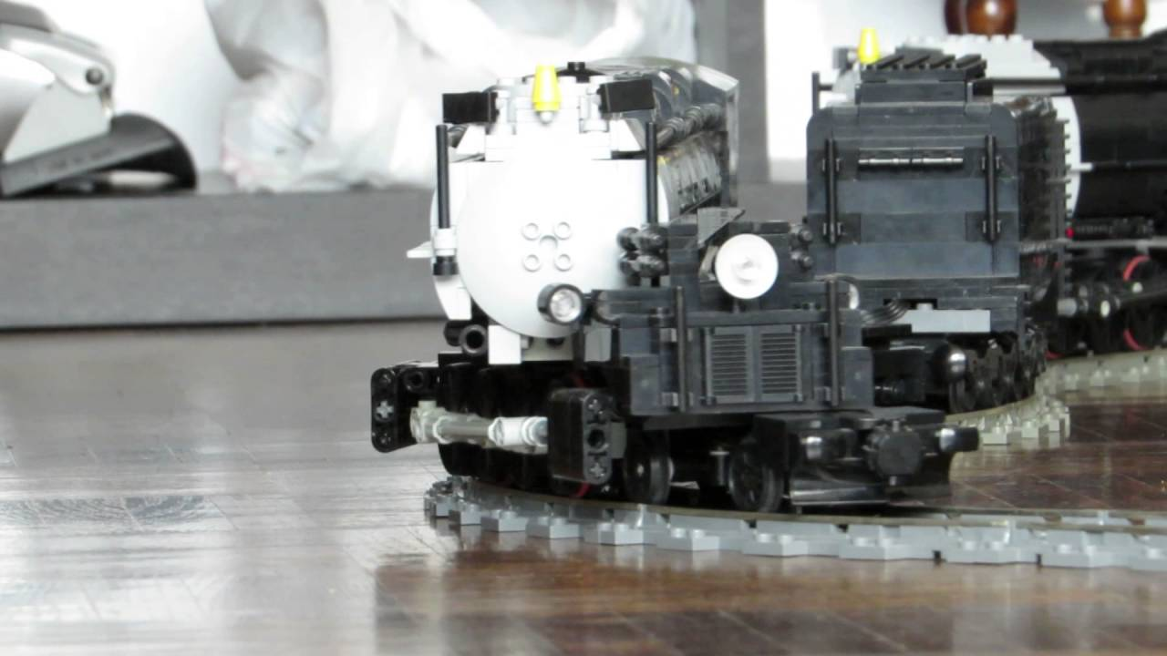 The three amigos Lego Boy's, Bricks' & Big's MOC U P  Big Boy steam  locomotive JH-4-8-8-4 in action