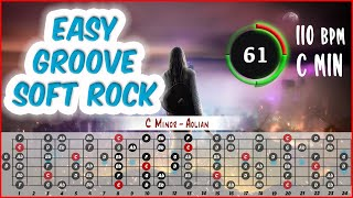 Easy Groove Soft Rock Backing Track for Guitar and Bass (Jam in C Minor 110 BPM)